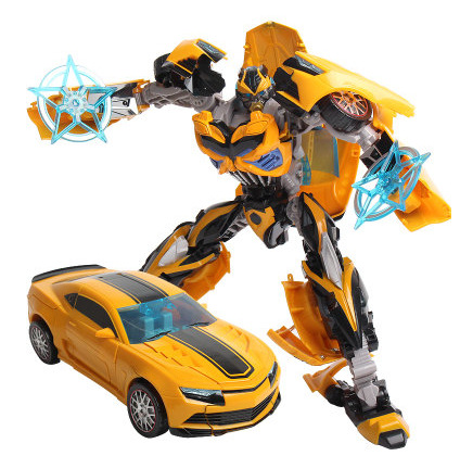 Action Figures Classic Toys for Boys New 2014 Edition 20 CM Bumblebee 31 CM Optimus Prime Transformation Robot w048(China (Mainland))