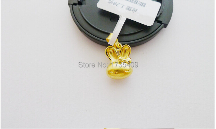 Pure 24k Solid Yellow Gold Pendant / Lovely 3D Bunny Baby Pendant / 1.05g 1PCS<br><br>Aliexpress