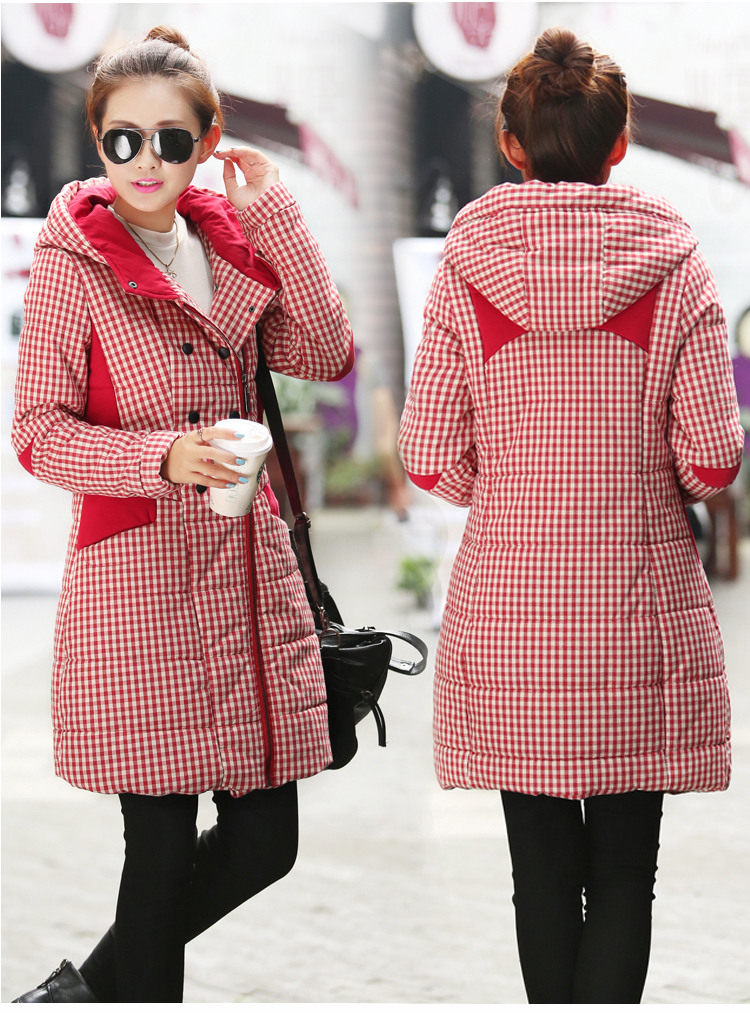 TNLNZHYN Korea Style 2017 New Winter Women Coat Warm Big Hooded Medium Long Down Cotton Jacket Thick Warm Winter Down Coat SK229