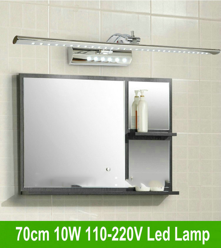 Free shipping 70cm 10W LED Mirror Wall Toilet Light Bathroom Lamp Cabinet AC 85V~265v Stainless Steel bj31<br><br>Aliexpress