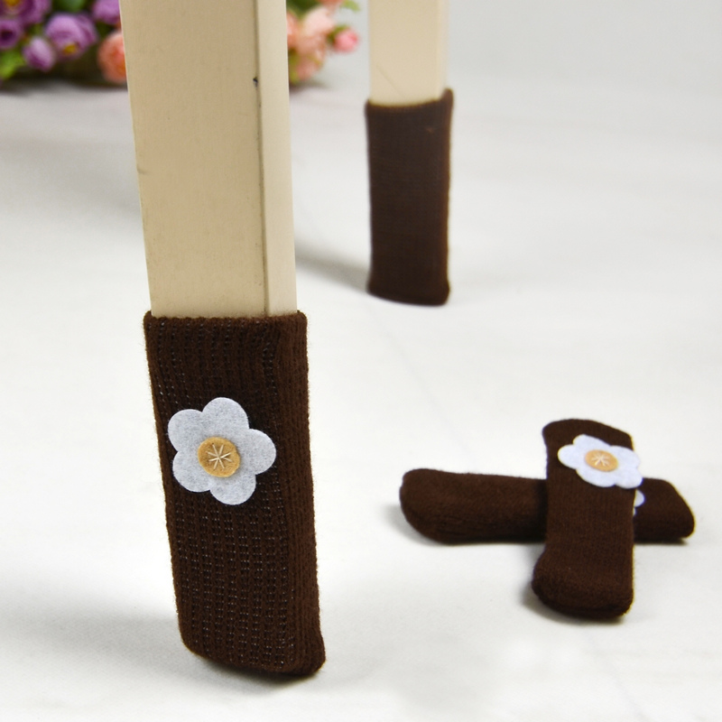 Small small home chair flower socks legs sets of stool socks chair protective case chair pads thickening 4(China (Mainland))
