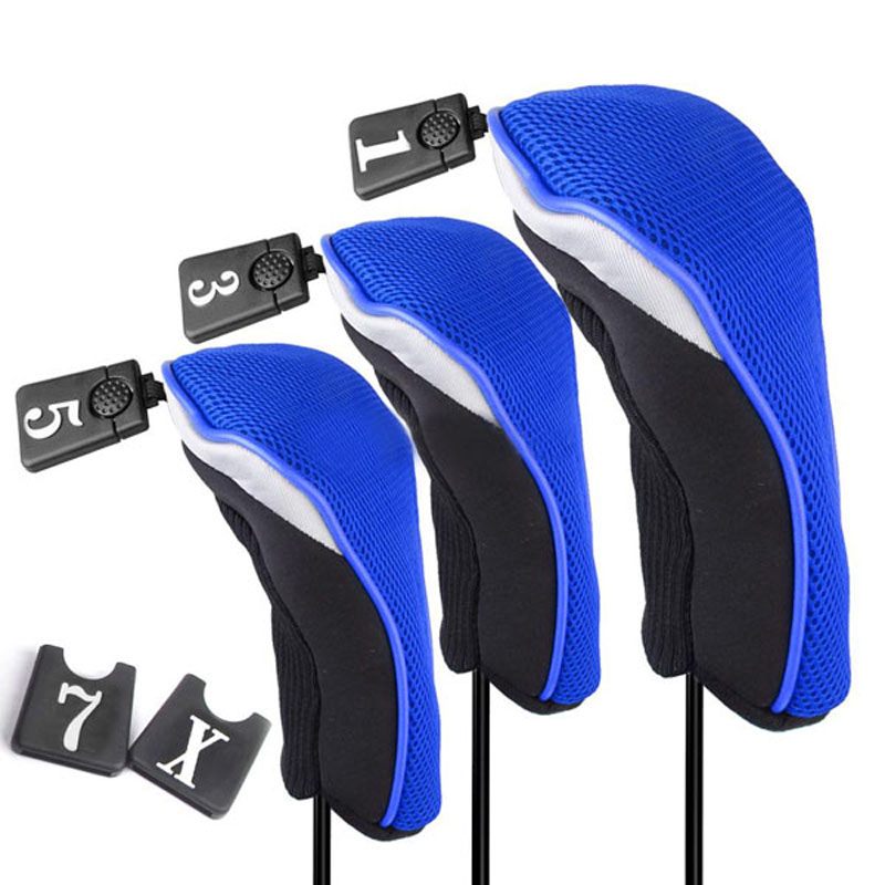 3 sizes Blue 1 5 Soft Wood Golf Club Headcovers Head Covers Set - Michael & Dolphin's Store store