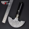 Hot sale Damascus leather knife damascus skinner gift knife carving knife ebony handle hunting knife free