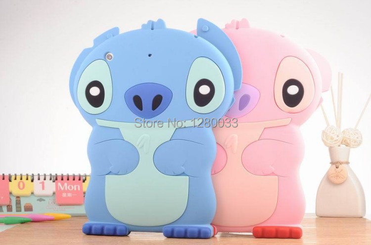 2014 Newest 3D cartoon animals monster series soft silicone case Ipadmini1/2/3 7.9inch Tablet PC Shell - Orange Mobile store