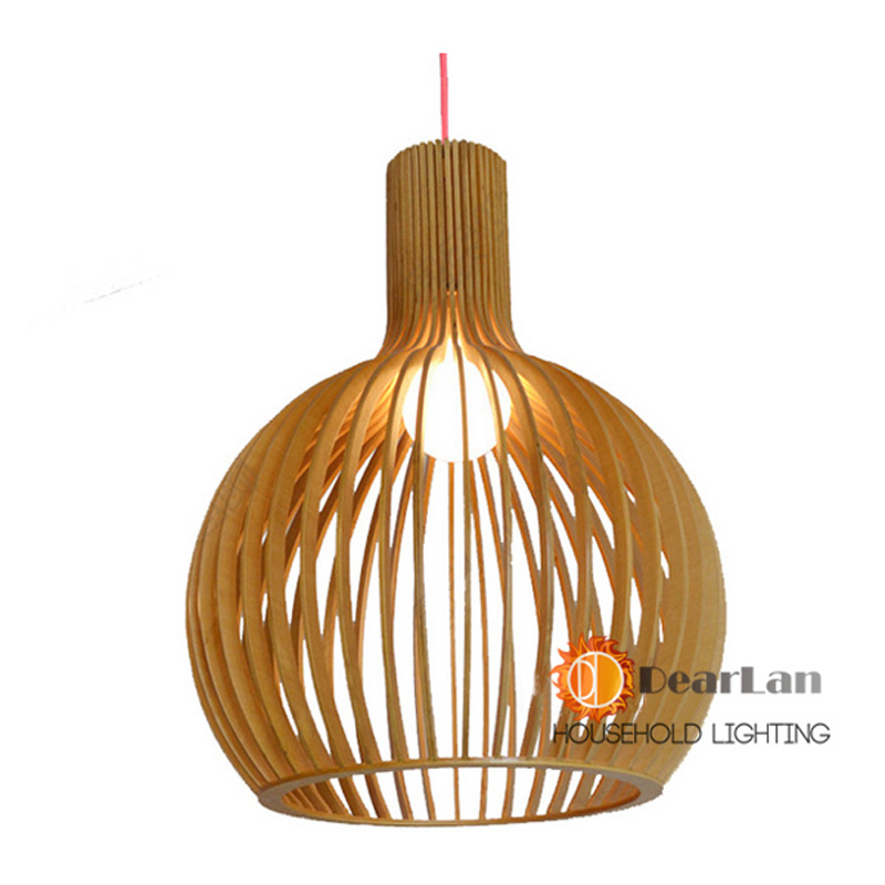 Lantern shape Pure natural wood makes  pandant lamp  wood  dorplight lamp series item vintage style Drop length can be adjusted<br><br>Aliexpress