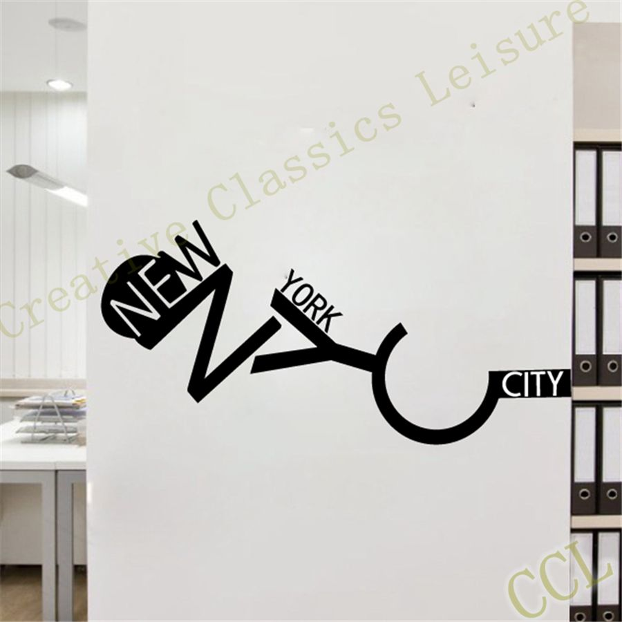 Free Shipping New York Wall Sticker Wall Art Decal Home Decor New York City In Wall Stickers