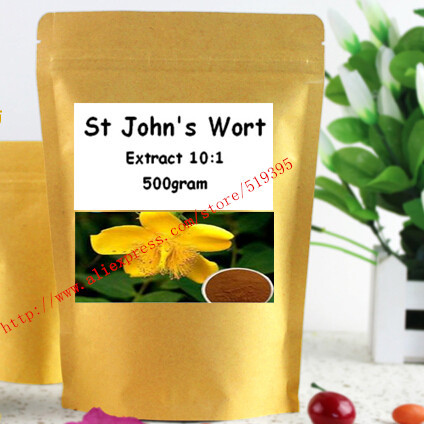 St Johns Wort Extract  10:1 Powder  500gram free shipping<br><br>Aliexpress