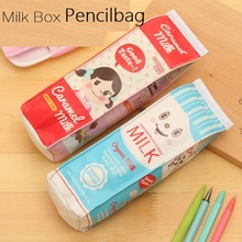 Creative Milk Box waterproof PU Pencil case/Students' gift/Multifunction Organizer Bag School Office Supply Escolar Papelaria(China (Mainland))