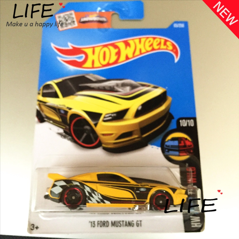 Free Shipping Hot Wheels Yellow Mustang GT Car Models Metal Diecast Cars Collection Kids Toys Vehicle For Children Juguetes 40(China (Mainland))