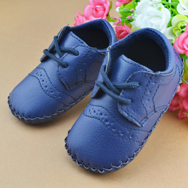 PU Leather First Walkers British Style Baby Shoes For 0-12months Kids Shoes With Air Hole Antiskip Unisex Footwear(China (Mainland))