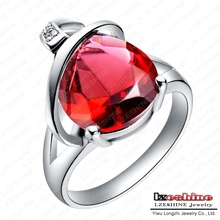 Twilight Ring Bella Engagement Diamond Rings Real Platinum Plated Imitation Ruby Rings Accessories For Women WX-RI0009