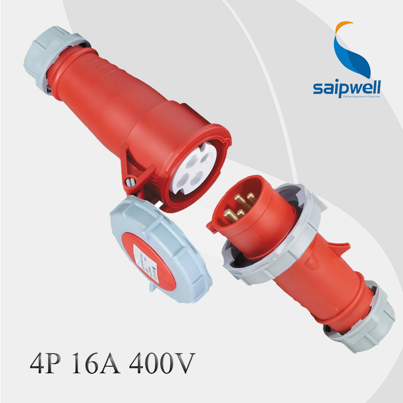 4P 16A 400V Combination International Standard Industrial Plug & Connecter / IP67 Waterproof(China (Mainland))