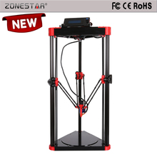 2016 3D Printer Full Self-assembly Delta 3D Printer  DIY Kit 2 rolls filaments 8G SD card  LCD