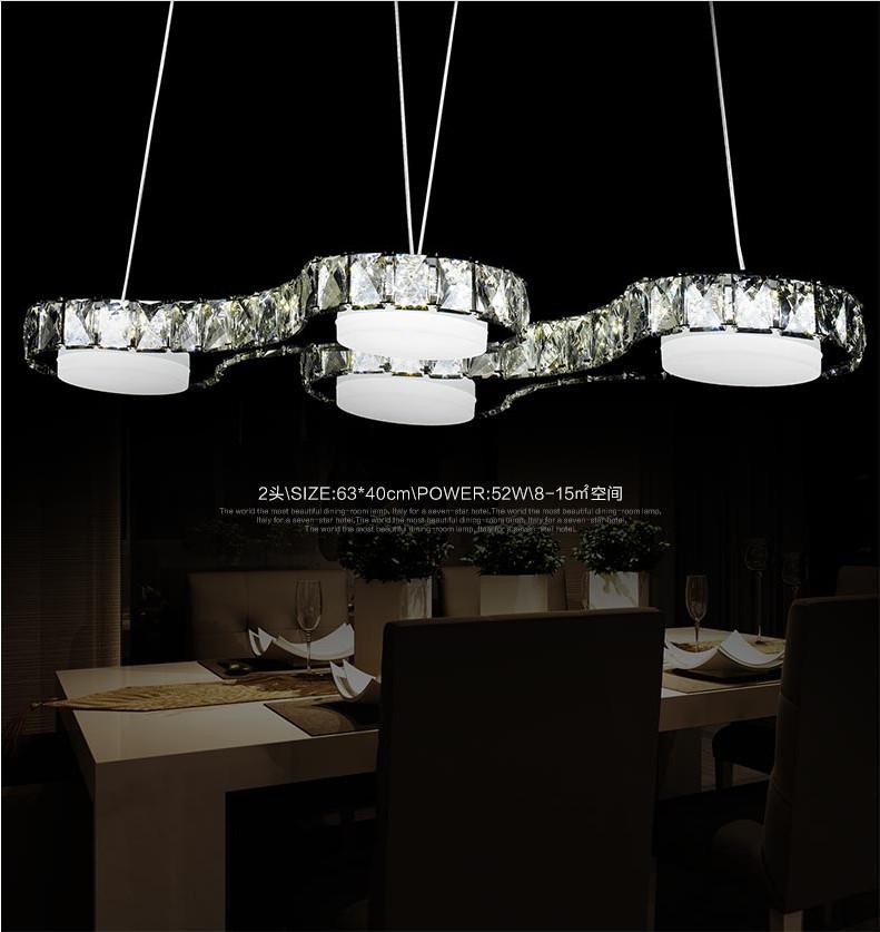 2015 New modern design dining room hanging chandelier ,LED crystal ...