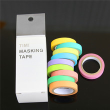 Buy New 10 Pcs Rainbow Roll Diy Washi Sticky Paper Tape Masking Tape Self Adhesive Tape Scrapbooking Decorative Scrapbook Tape Gift for $1.73 in AliExpress store