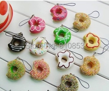 10pcs/lot Free Shipping Swiss Roll Cake Squishy Charm Cell Phone Straps Squishies Food Squishy wholesale #0824(China (Mainland))