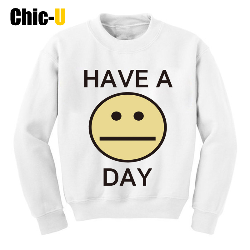 Women Hoodies BTS Harajuku 3D Print Have A Day Expression Cotton Blend Winter Moletom Feminino Round Neck Hoddies De Las Mujeres(China (Mainland))
