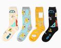 Brand Cotton German Harajuku  Hip-hop Maple Leaves Leaf Men Street Boat Socks Hemp Cotton Sock Free Size