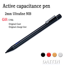 2mm Active Stylus Capacitive Metal Pen For iPhone iPad Android Samsung USB Charging Universal Screen Touch Pen Tablet PC(China (Mainland))