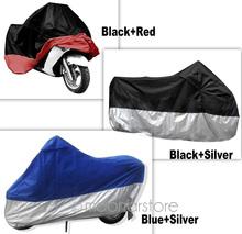Große Größe 245*105*125 cm Motorrad Abdeckung Wasserdichte Rollerabdeckung UV Schwer Rennrad Abdeckung 3 Farben HM308-15(China (Mainland))