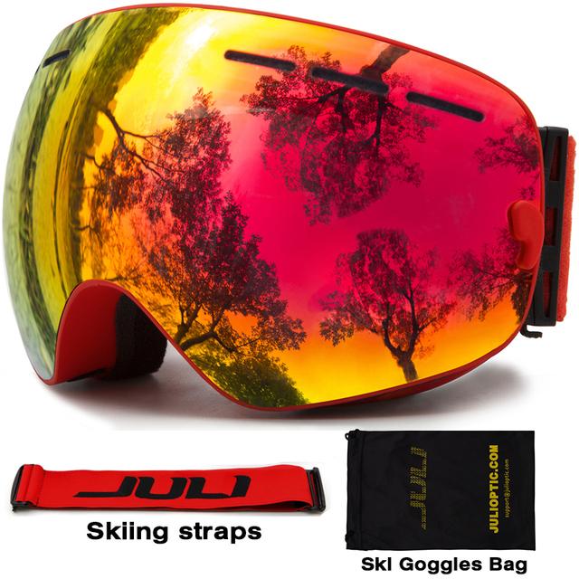 Лыжные Очки, JULI Снеговые очки Защита UV400 Анти-Туман с Двумя Объективами OTG для Мужчины Женщины Молодежь Снегоход Лыжи сноуборд Очки