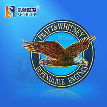 Pratt Whitney Logo Flying Eagle Car luggage Bag Sticker Light Reflecting Personality Decoration Gift (China (Mainland))