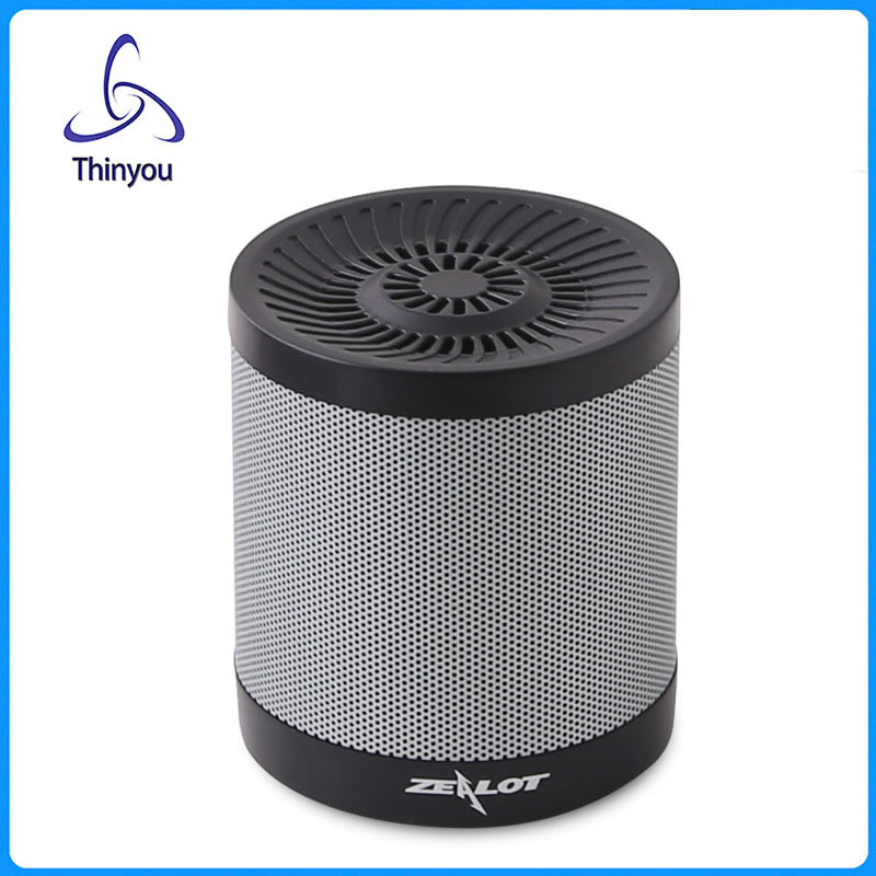 Thinyou Luxury Wireless Metal Portable Mini Bluetooth 4.0 Speaker Handfree Mic+TF Card Stereo for Laptop/PC/MP3/ MP4 Player(China (Mainland))