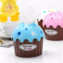 Plastic Ice Cream Tissue Box Napkin Cover Paper Sheets Holder Household Storage Container Home Office Table Desktop Decor(China (Mainland))