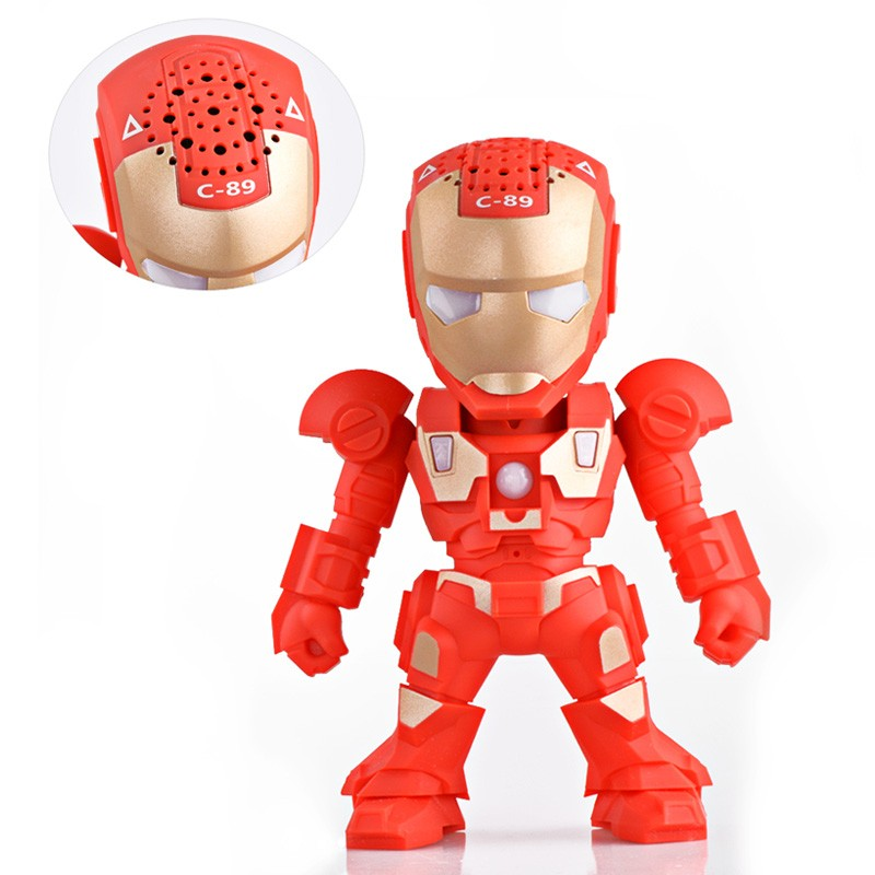 2016 New Portable Mini Bluetooth Speakers For Iron Man Wireless Smart Hands Free Speaker Support SD Card For Mobile Phone(China (Mainland))