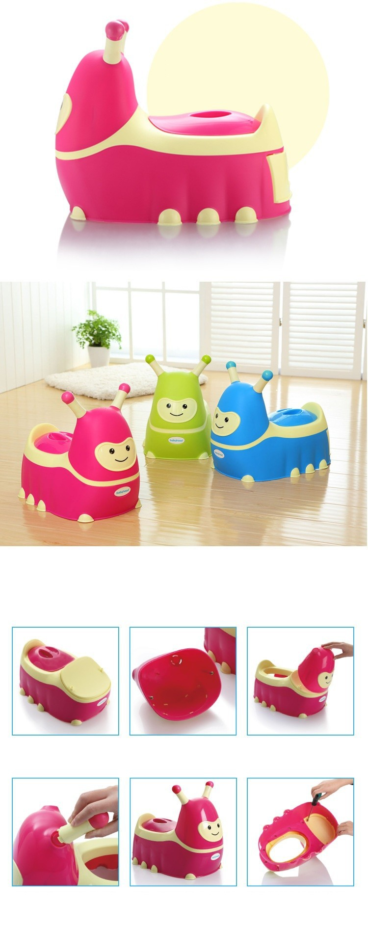 Baby Protable Potties Cartoon Kawaii Folding Travel Toilet for Infant and Kids Children Training Toilet Seat Chair Toy Cars