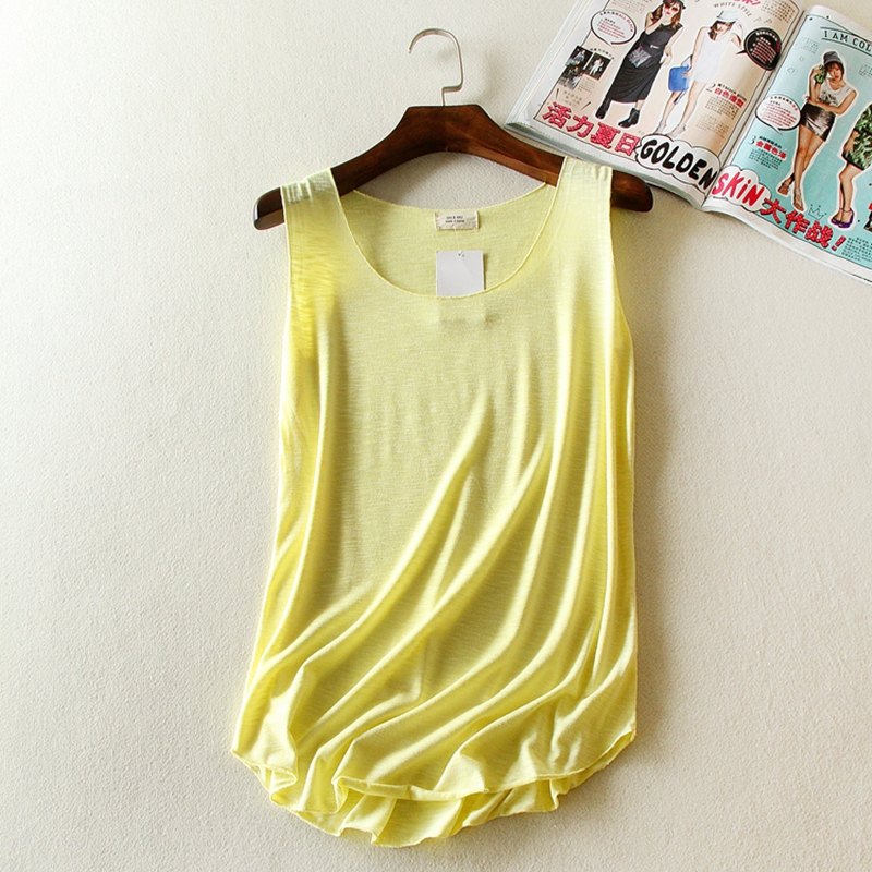 2015 new arrival tank top casual solid color cotton cheap clothes china fitness Running womens tops Colored loose clothing(China (Mainland))