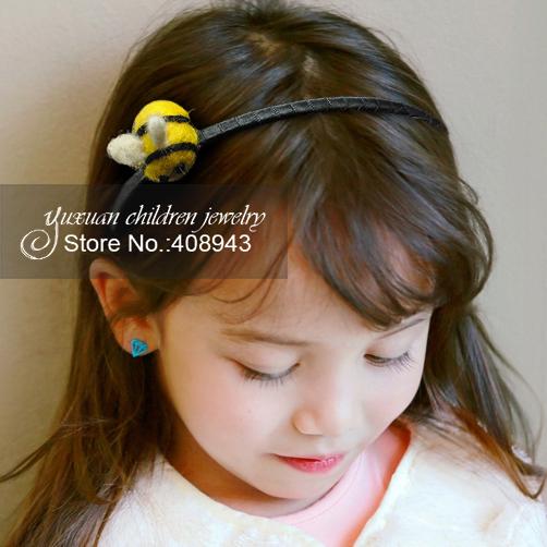 Cute woman children Hair accessories Baby girl tiaras hair clips headband Handmade wool felt bees barrettes hairbands+hairpin!A6Одежда и ак�е��уары<br><br><br>Aliexpress