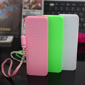 New Style Slim Power Bank 2600mAh USB External Backup Battery Charger PowerBank for all phone free