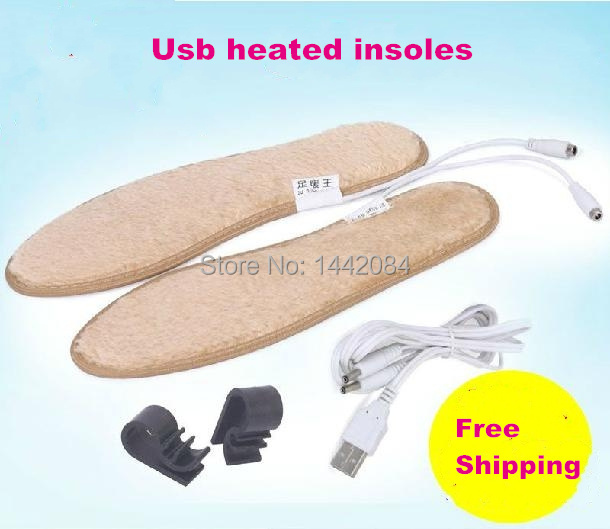 new 2014 winter Usb heated insoles warm Shoe Pad keep feet warm electric powered insoles for shoes snow boots(China (Mainland))