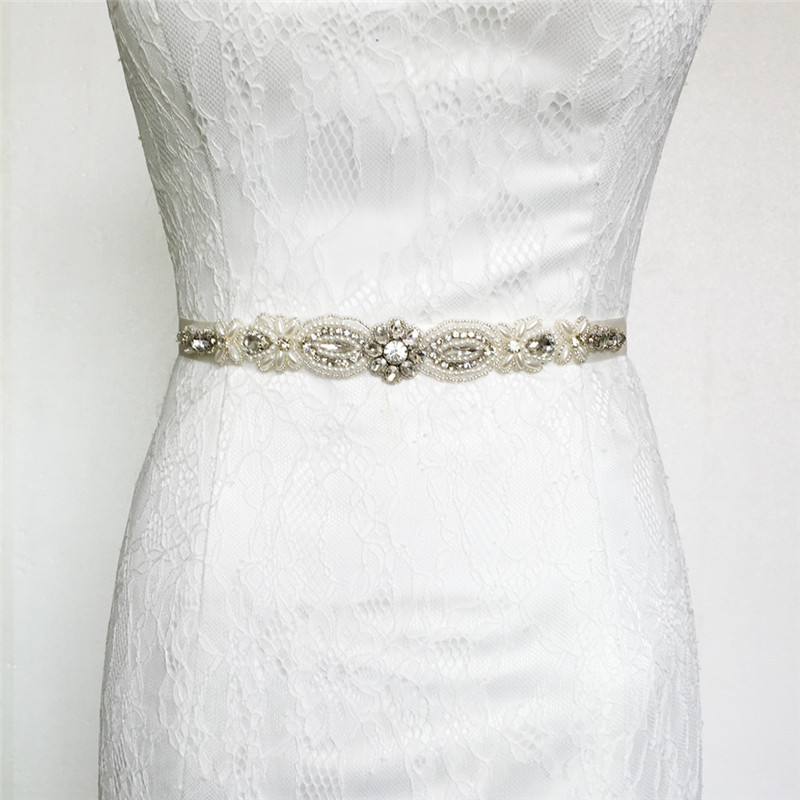 Wedding Dress Accessories Belt : Beading crystal wedding belt bridal dress accessories s in belts