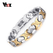 Hot sale healthy care bracelets & bangles for women jewelry  energy magnetic bracelet for women heart hand chain free shipping(China (Mainland))