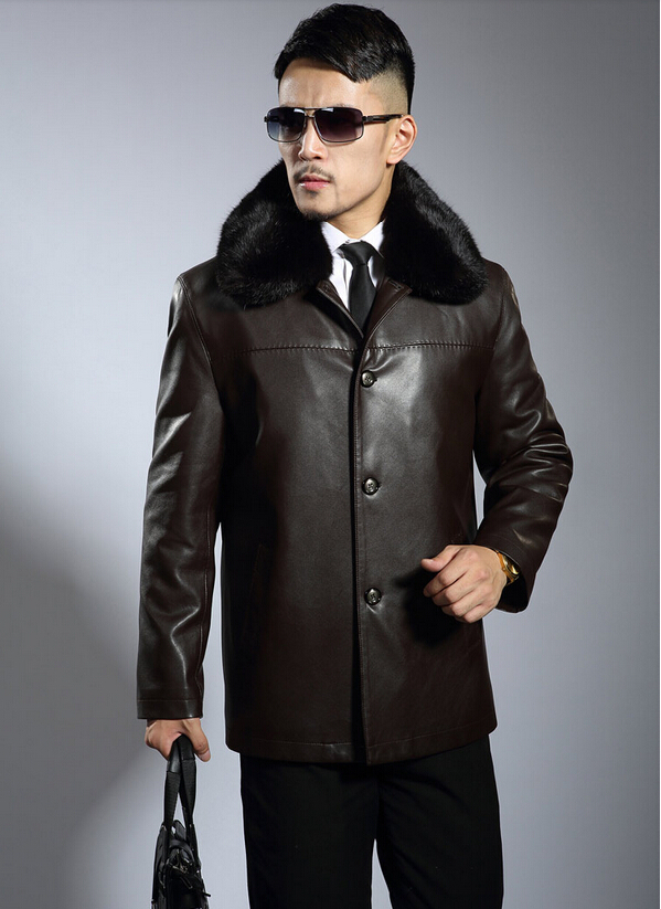 2014 New Quinquagenarian leather clothing men single breasted mens genuine leather jackets mens medium-long leather clothing ,Одежда и ак�е��уары<br><br><br>Aliexpress