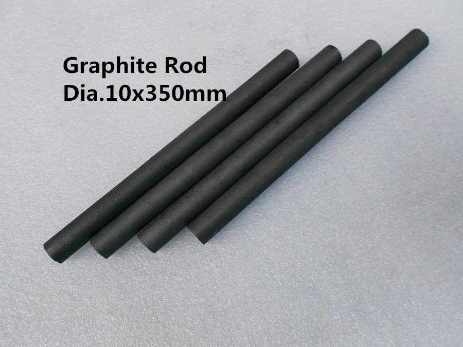 FREE SHIPPING 4pcs Graphite Rod Dia.10*350mm /Graphite substrate rod/ graphitized carbon rod(China (Mainland))