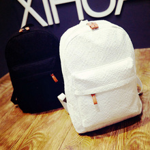 Fashion Lace School Bag Daypack for Teenagers Designer Durable Canvas Student's Laptop Bag Backpacks Girl's Lace Rucksack(China (Mainland))