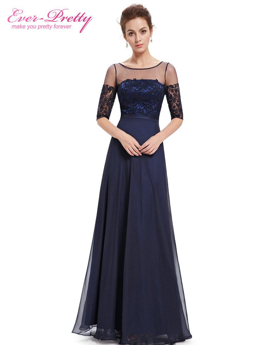 Evening Dresses Ever Pretty HE08459 Fashion Women 2016 Elegant Round Neck Long Summer Dress Evening Dresses(China (Mainland))