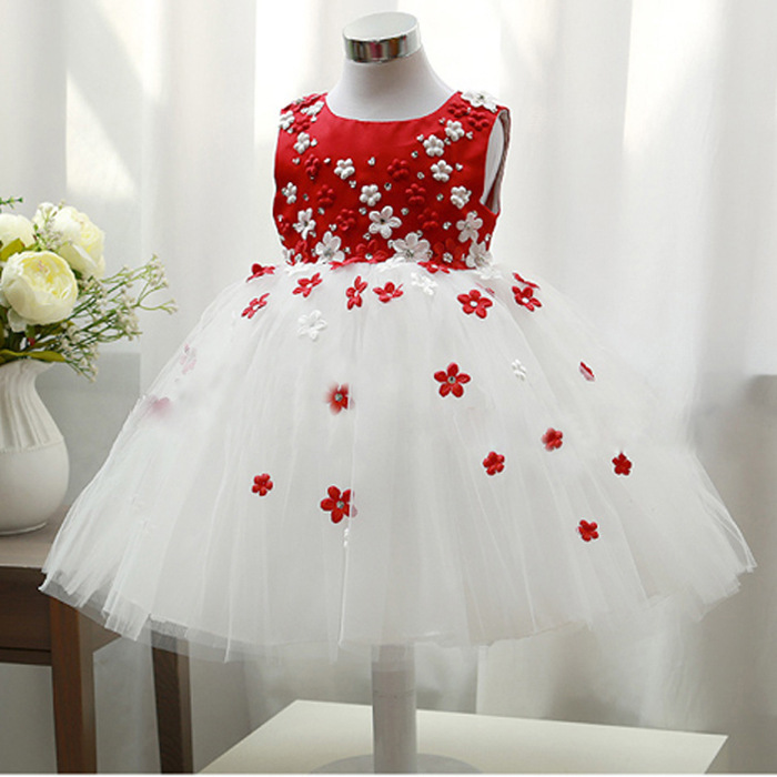 2015 New Spring Summer Children's clothes Girl dress Spring Summer Sleeveless Flower Girl Dresses Pageant dress(China (Mainland))