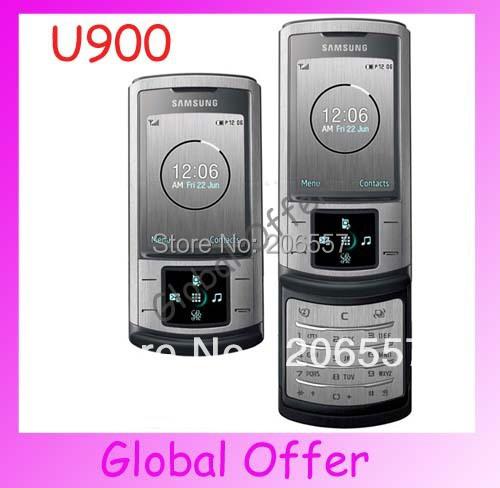 U900 Original Unlocked Samsung U900 Soul mobile phone 3G Bluetooth 5MP Camera Cheap Cell phone refurbished 1 year warranty(China (Mainland))