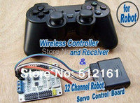 NEW!!!32 road steering control 32-way control board and PS2 controller, remote-controlled robot/mechanical arm!the whole!!!