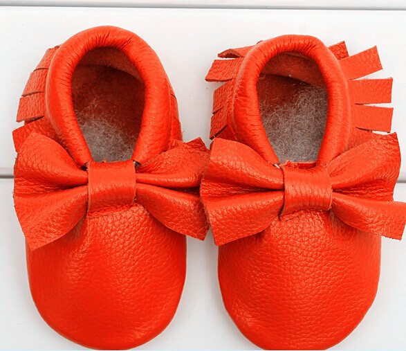 new Baby Moccasins Soft Moccs Baby BOW Shoes Newborn Baby firstwalker Anti-slip Genuine Cow Leather Infant Shoes Footwear(China (Mainland))