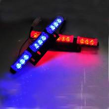 2X9 18LED Car Truck Auto Grille Flash Strobe Light 3mode Red Blue White Green Amber Yellow
