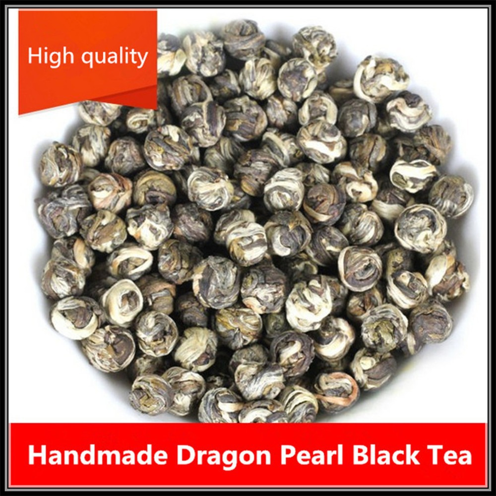 Top Grade Handmade Dragon Pearl * Fujian Black Tea 100g(3.53 oz)*Gift Free Shipping(China (Mainland))