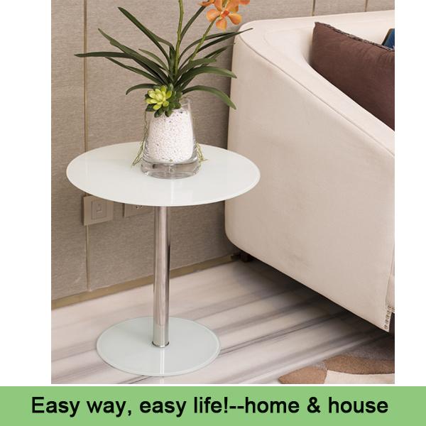 side table Round glass corner sofa side coffee table simple coffee table Phone table(China (Mainland))