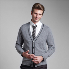 pure Cashmere Men Sweater Free shipping New fashion Spring Autumn winter  Knitted men cardigan Sweater(China (Mainland))