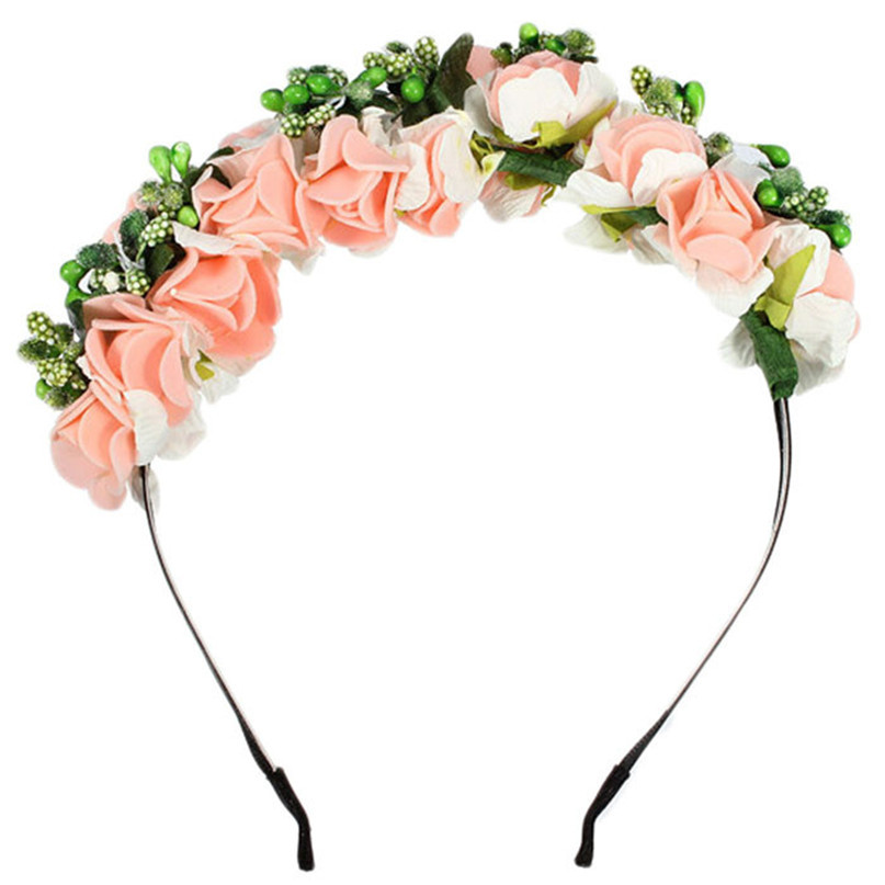 Modern Korean Style Women Hairbands Flower Floral Bridal Hair Accessories Bride Hair Wreath Wedding Ornaments Jul23