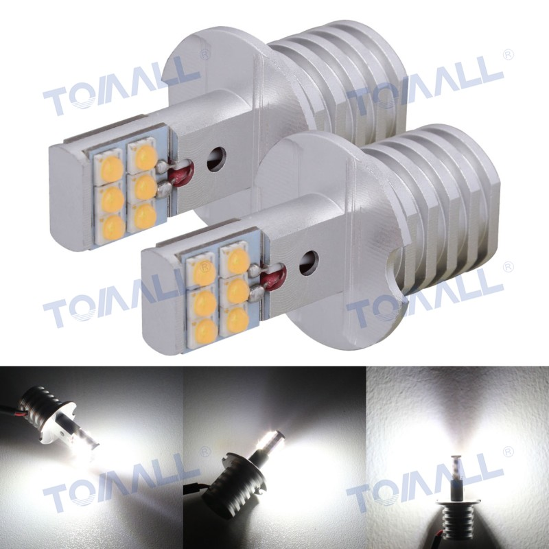 TOMALL 4pcs H1/H3 High Bright 600lm 60W LED Auto Car DRL/Headlights/Fog/Driving Lamp Double-Face 12-SHARP Chips For Audi 12~24V(China (Mainland))